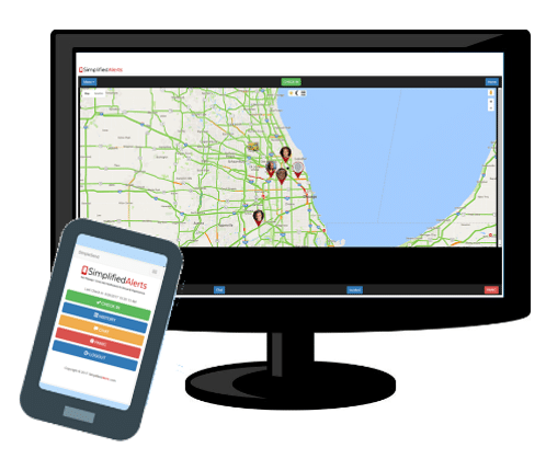 GEO Check-in notification system